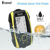 Portable 2.4 Inch Wireless Sonar Sunlight Readable Fish Finder Waterproof IP67