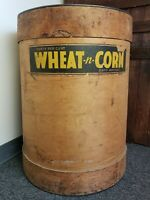 Rare The Keever Starch Company Barrel, Wheat -N- Corn Laundry Starch, Wood Ply