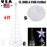 6FT Christmas LED Lighted Spiral Tree Outdoor Xmas Holiday Decor Holiday Light