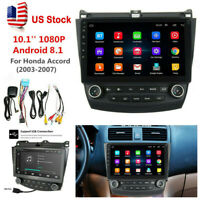 10.1'' Android 8.1 Quad-Core Car Stereo Radio GPS Nav For Honda Accord 2003-2007
