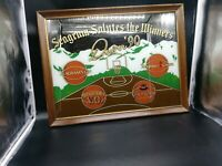 Seagram Salutes The Winners Denver '90 Basketball Mirror Framed Art Final 4 Four