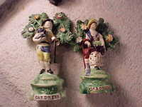 PAIR OF STAFFORDSHIRE FIGURES MAN AND WOMAN C 1825