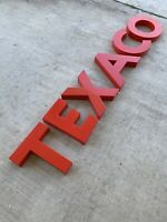 Original Red Texaco Gas Station Letters Rare