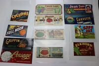 Produce Crate box Label Poster ad Fruit Vegetable Farm Distributor lot