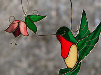 Stained Glass Hummingbird Mobile