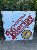 "Vintage Porcelain Standard Oil Of Louisiana Stanocola Polarine Sign Sided 48"" SS"