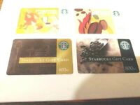 4 Czech Republic Starbucks Cards Discontinued RARE-US Seller