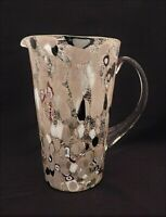 Murano Art Glass Mid Century Modern Hand Blown Millefiori Pitcher Ewer