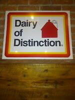 Vintage DAIRY Of DISTINCTION Tin Litho 2 SIDED SIGN 24