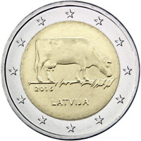 2 euro coin Latvia 2016 Latvian agricultural industry