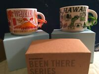Starbucks Ornament Lot Hawaii + Waikiki Been There Series Demitasse Mini Mug 2oz
