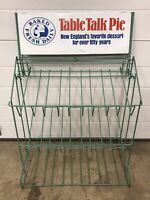 Vintage Table Talk Pie Store Counter Display Metal Wire Rack Advertising Sign