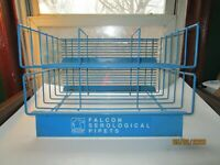 Vintage Falcon Blue Metal Wire Display Rack Two Tiered Large Shelves