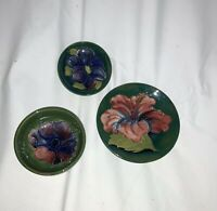 Vintage  Moorcroft  Patterned Dishes and  Bowl, mint condition