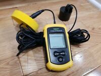 LUCKY Handheld Fish Finder Portable Fishing Kayak Fishfinder Depth Gear USED