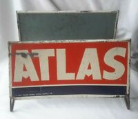 Vintage Atlas Gas Station Dealer Tire Display Stand Rack metal & wire Mancave