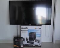 home theater system 5.1 tv 50 4k smart samsung $550.00