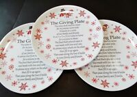 The Giving Plate Christmas Platter Serving Dish Cookie Plate Set of 3 12quot;