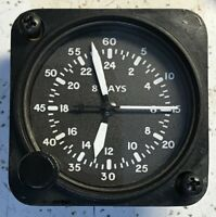 Waltham Watch Co 9 Jewel A-11 24 Hour Dial Aircraft Clock White Numbers Hands