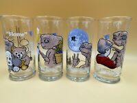 Complete Set 4 Vintage 1982 ET Extra Terrestrial Collectors Glasses Pizza Hut