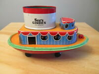 Vintage See's Candy Container Tin Litho S.S. Sweets