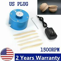 USA 110V Electric Pottery Wheel Machine for Ceramic Work Clay Art Craft DIY Blue
