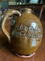 Rare Reggie Meaders Southern Pottery Jug