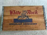 White Rock Beverages Vintage Wood Crate, Great Graphics