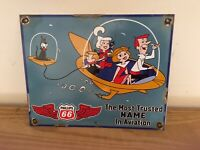 VINTAGE PORCELAIN JETSONS PHILLIPS 66 GAS AND OIL SIGN