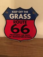VINTAGE PORCELAIN  ROUTE  66 GAS AND OIL SIGN