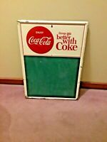 """VINTAGE ENJOY COCA-COLA , """"THINGS GO BETTER WITH COKE""""  BUTTON SIGN"""