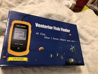 VENTERIOR Portable Fish Finder Depth Sonar Fishfinders Ice Kayak Canoe Fishing