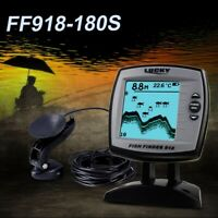 Fish Finder FF918-180S Wired Sensor 45 Degrees Echo LCD Boat Detector E4B8