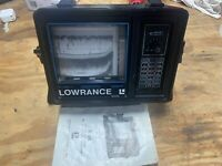 Vintage Lowrance X-16 Fish Finder Sonar  Computer Graph Paper Transducer