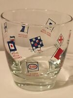 VINTAGE ESSO DRINKING GLASSES SET OF 4 GAS STATION PROMO COLLECTIBLE