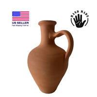 Earthenware Clay Pitcher, Mud Pot for Drinking Water Jug, Terracotta Pitcher 10'