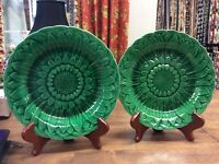 Pair of ANTIQUE Majolica plates by Wedgwood