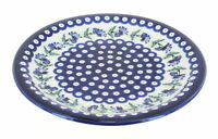 Blue Rose Polish Pottery Sweet Annie Dinner Plate