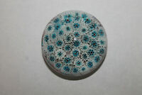 Vintage MURANO Made In Italy Millefiori Art Glass Paperweight Blue Tag