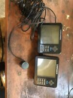 Two Lowrance fishfinder X65 with transducer