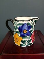 Hand Painted Pottery Pitcher SMF Schramberg Germany
