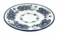 Blue Rose Polish Pottery Forget Me Not Dinner Plate