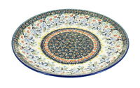 Blue Rose Polish Pottery Periwinkle Dinner Plate