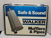 Vintage 2-Sided WALKER Mufflers & Pipes Aluminum Sign by STOUT Signs
