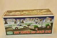 Hess Toy Truck and Race Car 2011 New In Box Real Lights & Sounds Sealed Holiday