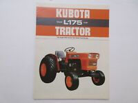 Kubota L175 Tractor Literature 8 pages 1975
