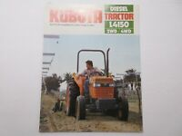 Kubota L4150 Tractor Literature 6 pages 1984