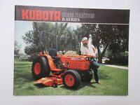 Kubota B Series Tractor Literature 28 pages 1985