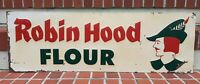 Vintage Robin Hood Flour Country Store Embossed Advertising Sign