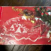 Vintage Glass Christmas Platter
